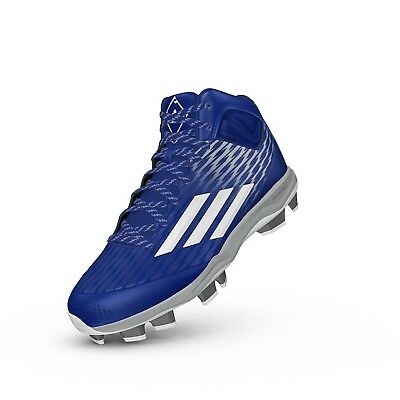 Adidas Power Alley 3 Tpu Mid Royal/White 12.5. Unbranded. Brand New