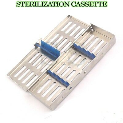 Stainless steel Tray Cassette for 5 Pcs Instruments Surgical Dental Labor CE