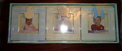 New Baby Essentials Tri-Fold Frame Photo Picture Duck~Teddy Bear~Horse NIB