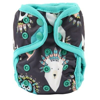 2018 NEWBORN Cloth Diaper Cover Baby Nappy Reusable 2 Gusset 8-10lbs Native