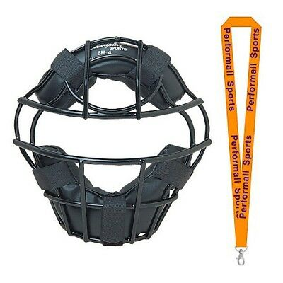 Champion Sports Bundle: Baseball Heavy-Duty Youth Catcher's Mask Black + 1