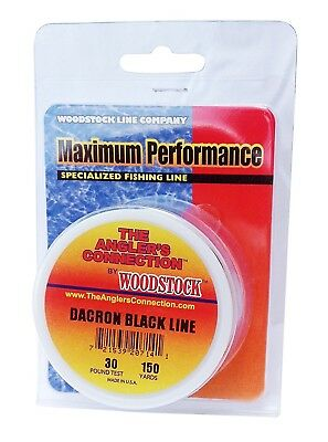 (300 Yards/200# Test, Black) - Woodstock Dacron Fishing Line. Delivery is Free