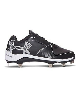 (12 B(M) US, Black) - Under Armour Women's Glyde 2.0 ST Softball Cleats