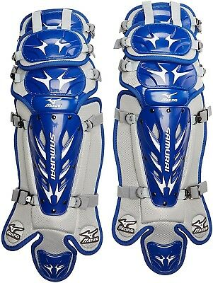 (Royal/Grey) - Mizuno Youth G3 Samurai Shin Guards (37cm ). Unbranded