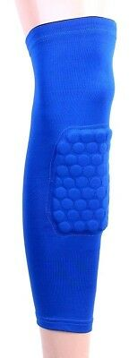 (X-Large, Blue) - C-Pioneer Crashproof Antislip Basketball Leg Knee Long