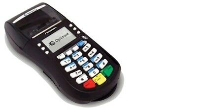 optimum hypercom t4210 dial up credit card terminal with power supply phone line