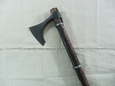 Ancient Viking Bearded Battle Axe 8-9 Cent Hand Carved Handle (Certificate COA)