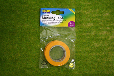 Precision MASKING TAPE 6mm wide x 18m long pack of 2 rolls Expo 44506
