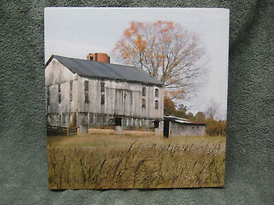 Old Grey Barn Canvas Picture Decor Paint House Farm Ryan Bowers New