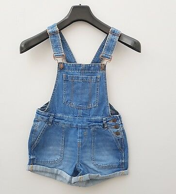 New Ex New Look Girls Short Denim Dungarees. Age 9-15 RRP £24.99