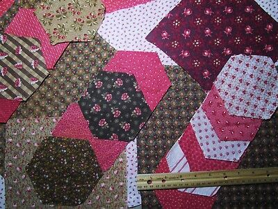 Antique Fabric Scraps Craft Quilt Dolls