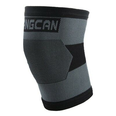 (Black) - FANGCAN Nylon Elastic Knee Sleeve Support Protector. Brand New