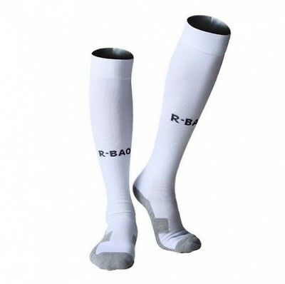 (White) - Men Soccer Socks Baseball Football Compression Athletic Socks Over