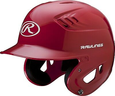 (Small, Scarlet) - Rawlings Clear Coat Alpha Sized Batting Helmet. Free Shipping
