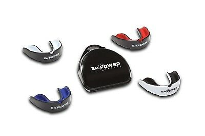 (Black & Red) - EmPOWER Sports Mouth Guard for Youth And Adult Football, MMA,