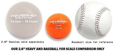 (9.5 Oz - Orange) - PowerNet 5.1cm Micro Weighted Hitting and Batting Training