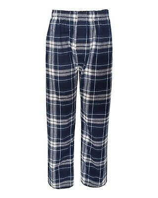 (Small, Navy/ White) - Boxercraft mens Classic Flannel Pants (F24)