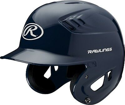 (X-Large, Navy) - Rawlings Clear Coat Alpha Sized Batting Helmet