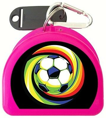 (Pink) - Zumoe Custom Soccer Mouthguard Case, Mouth Guard Case, Retainer Case