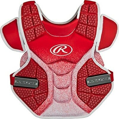 (Scarlet/White) - Rawlings Sporting Goods Softball Protective Velo Chest