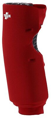 (Small, Scarlet) - Adams USA Trace Long Style Softball Knee Guard. Huge Saving