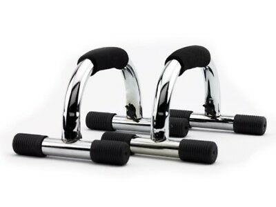 (Silver - (Chrome)) - Wacces Push-up Push up Stand Bar for Workout Exercise