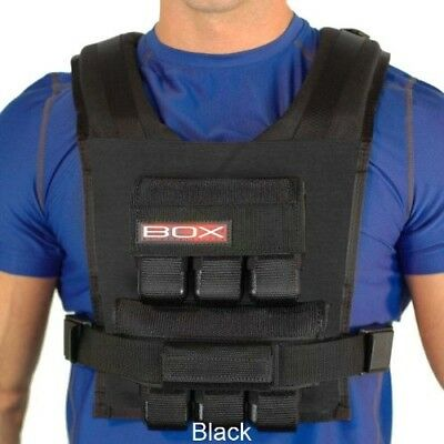 (Black) - 14kg BOX Weight Vest - Made in USA - Lifetime Warranty. Free Shipping