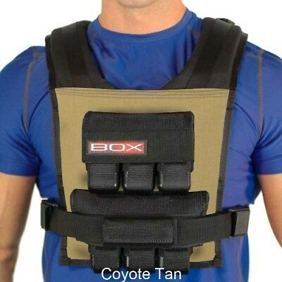(Coyote Tan) - 14kg BOX Weight Vest - Made in USA - Lifetime Warranty. Brand New