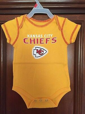 KANSAS CITY CHIEFS BRIGHT YELLOW JUMPER   3 to 6 mo  NFL LICENSED!   BRAND NEW!