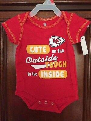 KANSAS CITY CHIEFS BRIGHT RED JUMPER   0 TO 3 mo  NFL LICENSED!   BRAND NEW!