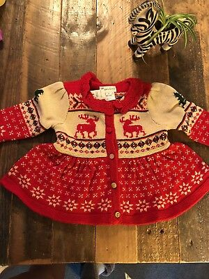 NWT Ralph Lauren Girls Reindeer Sweater Toddler Infant 6m -3m, 6m other listings