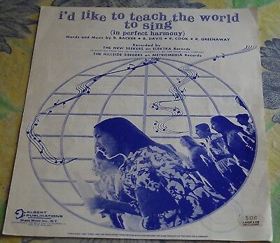 I'd Like To Teach The World To Sing - Coca-Cola Sheet Music - 1971