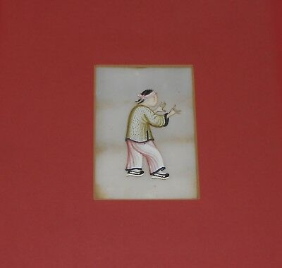 19th c Spectacular Chinese Rice Paper Pith Painting.