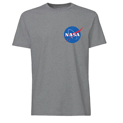 NASA T-Shirt Brustlogo Raumfahrt Weltall Mond Space Mondlandung Science Fiction