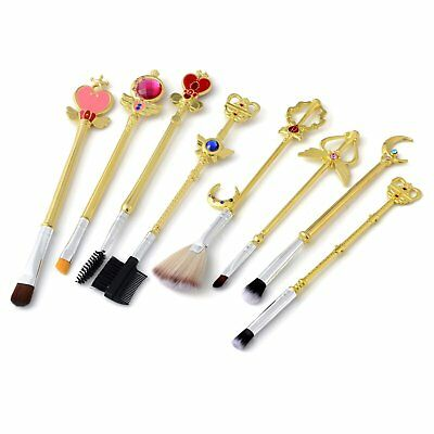 8 Pcs Sailor Moon Makeup Beauty Metal Brushes Gift Set For Face Powder & Blush