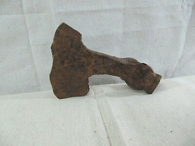 Ancient Viking Khazars Double Bearded Battle Axe Head 8 - 10 Century (COA)