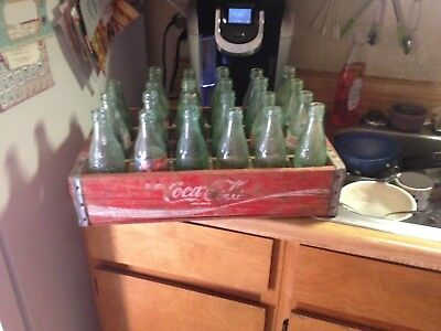 wooden coke box