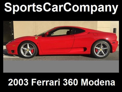 2003 Ferrari 360 360 MODENA COUPE 2003 FERRARI 360 MODENA COUPE LOW MILE BEAUTY MAJOR SERVICE COMPLETED CALL NOW!