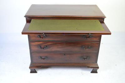 Antique Georgian Mahogany Bachelor'S Chest Of Drawers With Brushing Slide C 1780
