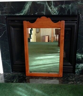 Vintage Statton Trutype Solid Cherry Colonial Style Wall Mirror ~ NO RESERVE!