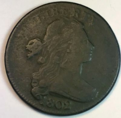 1802 Large Cent Draped Bust - VF - Norm. Rev - 112801