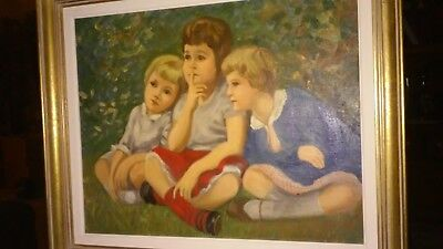 Three Sisters Oil on Canvass