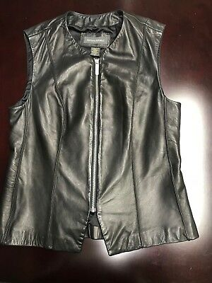 Banana Republic Soft Black Leather Vest