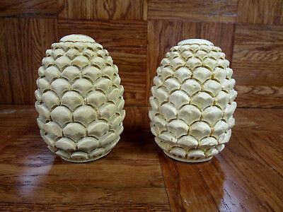 Set of 2 Pine Cone Design Unfinished Wood Finials Furniture Parts Accessories