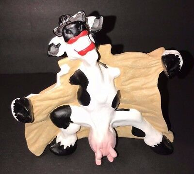Cast Art Naughty Flashing Cow - Risque, Bad, Raunchy Novelty Gag Figurine