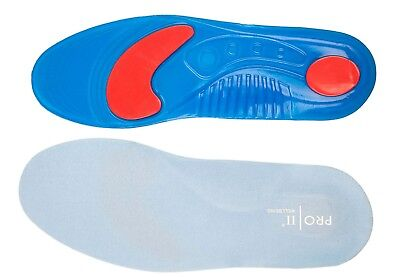 Gel orthotic Insoles Sports Running Inner Soles Cushion Heel Arch Support gym UK