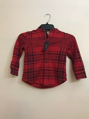 Ralph Lauren Red Holidays Cardigan Unisex Baby Sweater Toddler Polo 3T