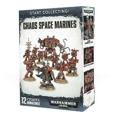 Warhammer 40.000 Start Collecting! Chaos Space Marines - OVP 40K