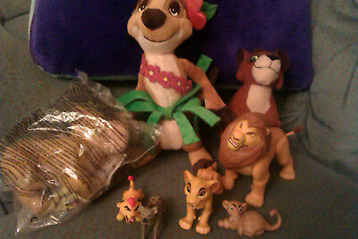 Disney Lion King bundle of soft and Plastic toy figures Timon