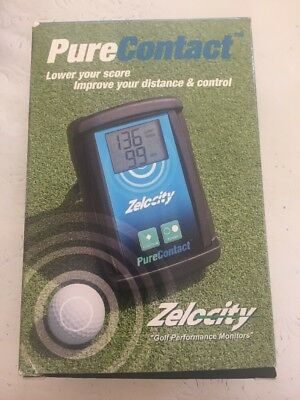 Golf Performance Monitor By ZELOCITY - Pure  Contact - Brand New
